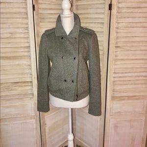 Ann Taylor Loft Grey Moto-style jacket